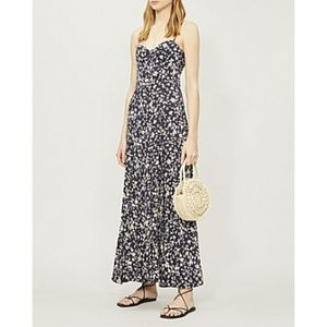 Free People Under the Moonlight Navy Floral Maxi